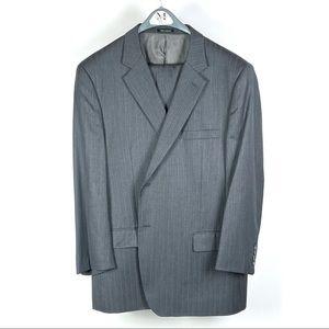 Joseph & Feiss Mens Gray 100% Wool Suit (Closet)